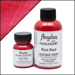 Angelus Acryl Lederfarbe Pearlescent Riot Rot (451) 118ml (105,93€/1L)