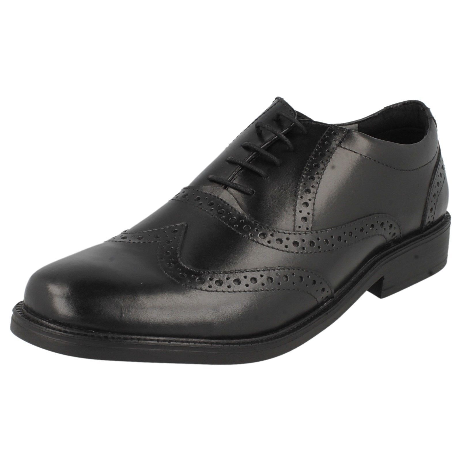 Herren HUSH UP PUPPIES ROCKFORD BROGUE LACE UP HUSH WORK FORMAL LEATHER SMART WIDE Schuhe 1dc8f4