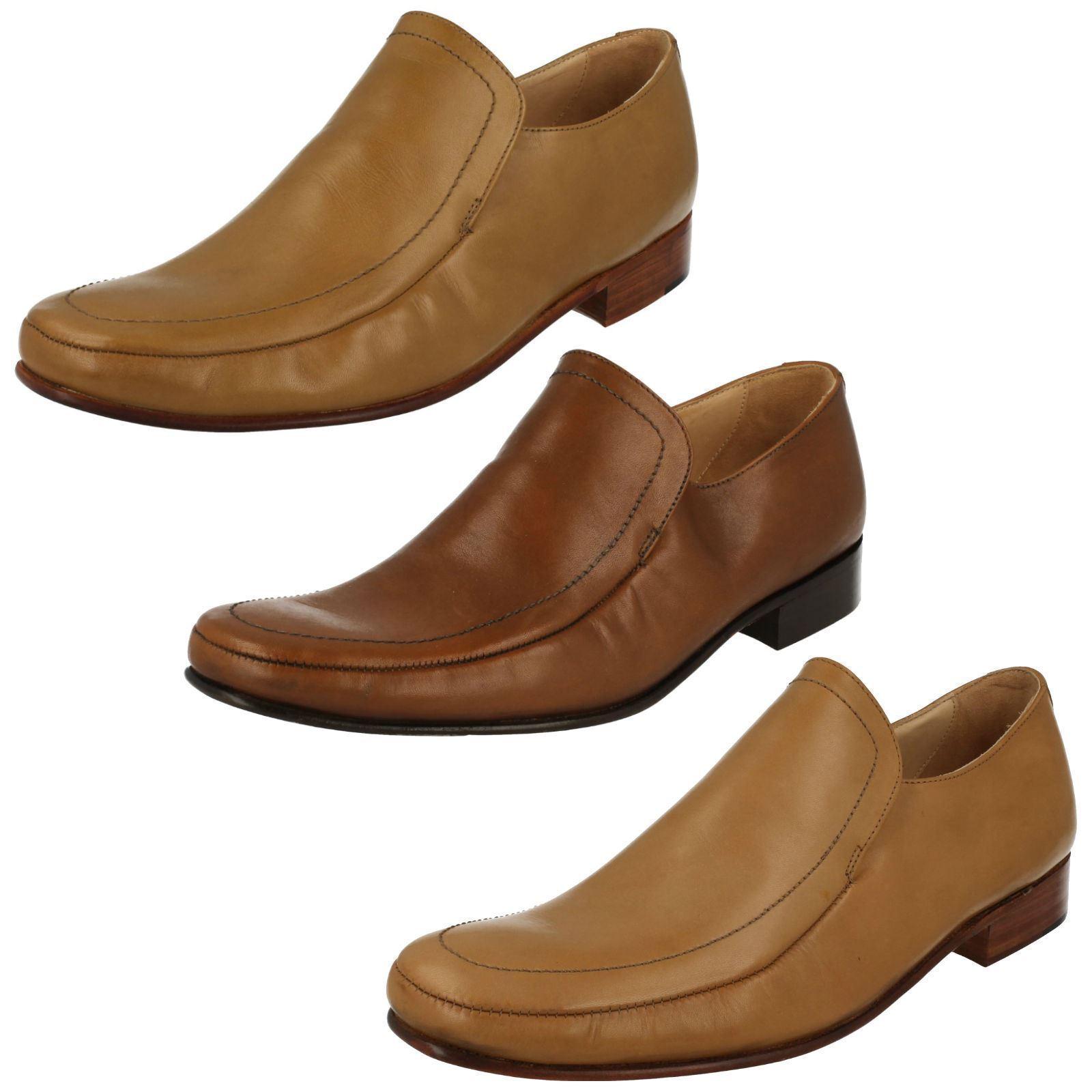 Herren GRENSON DAKOTA FORMAL SMART CASUAL BROWN TAN TAN BROWN SLIP ON Schuhe UK SIZE 7.5 - 11 4d2930