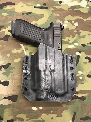 Black Kydex Light Holster for Glock 17 22 31 Streamlight TLR-2s TLR2 Laser