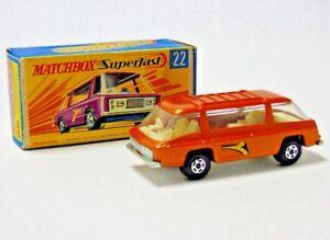 No.22 1970 Matchbox Superfast Lesney Freeman Intercity Commuter 1:64 Échelle Emballage en boîte