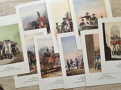 10 Steindrucke Kaiserreich Österreich - Konvolut, Militaria, Uniformen, Garde Wohltuend FüR Das Sperma