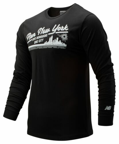 New Balance Men/'s 2019 NYC Marathon Vintage Long Sleeve Black Size S