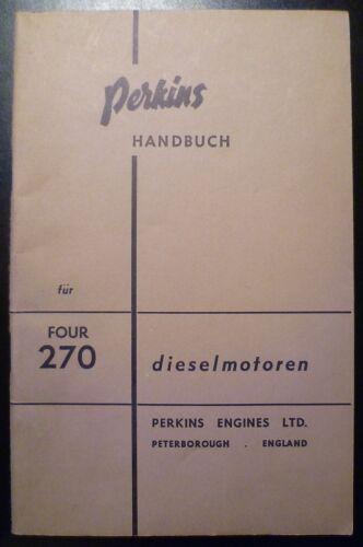 Perkins Four 270D Dieselmotor Handbuch