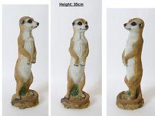 Realistic Standing Meerkat Ornament Garden or Home Meerkat Ornament 35cm Tall