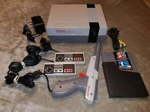 Nintendo-NES-System-Console-W-Super-Mario-Bros-amp-Duck-Hunt-Cleaned-72-Pin