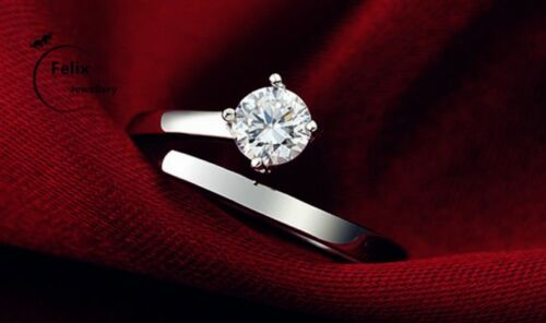 One Love 925 Sterling Silver Adjustable Engagement Ring Couple Womens Love Gifts