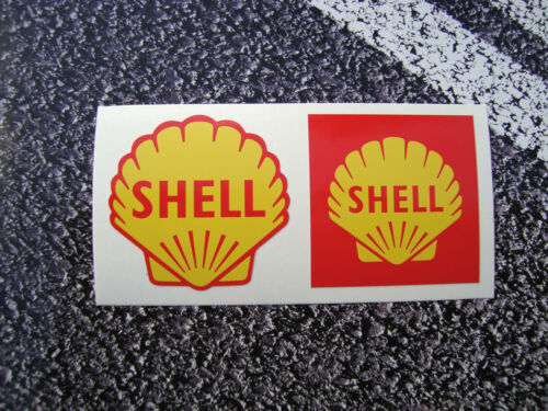 Shell Stickers Retro Style 50mm 1955 /& 1961 Fuel FERRARI F1 Lemans Petrol Diesel