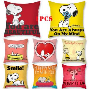 Home-Decor-Popular-Dog-Cute-Snoopy-Peach-Skin-Pillowcase-Sofa-Cushion-Cover