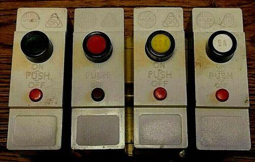 Wylex Push Button MCB 5A//20A//30A No base shield Single Pole
