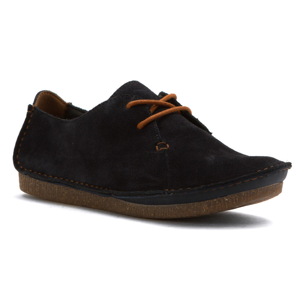 Women's Clarks Artisan Comfy Janey Mae Oxford shoes Navy Suede 26121914