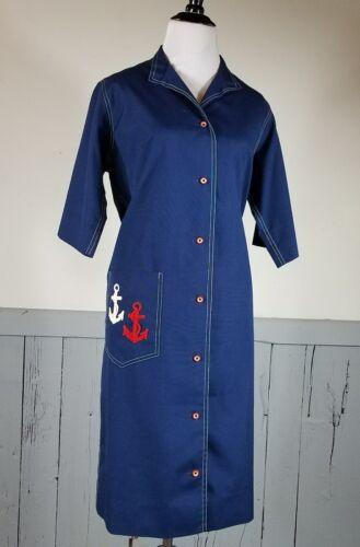 Vtg sheath dress Sailor anchor roadrunner novis de