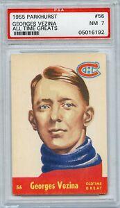 Georges-Vezina-1955-Parkhurst-56-PSA-7-NHL-Legend-Canadians-Very-Nice