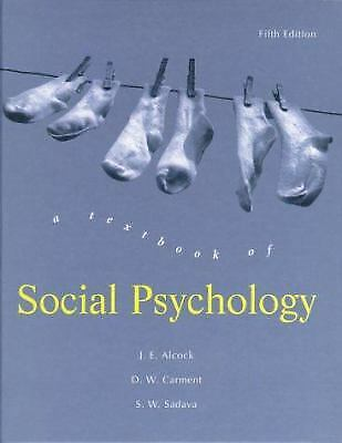 A Textbook of Social Psychology by Alcock, Jim