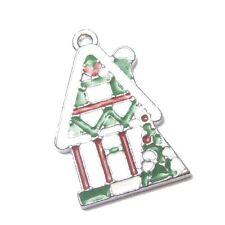 5 pieces Christmas Tree Zinc Alloy Charm Pendants - A8159