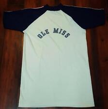 Vintage 70s Ole Miss Rebels Jersey Tee T-Shirt Size XL  Velva Sheen