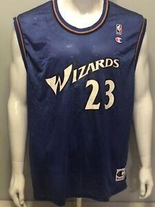 official photos e4570 53fe9 Details about VINTAGE Michael Jordan Washington Wizards NBA Jersey Champion  Size 44
