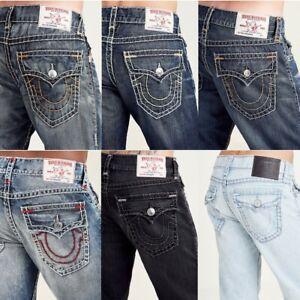 True-Religion-Men-039-s-Super-T-Relaxed-Straight-Leg-Jeans-w-Flap-Pockets