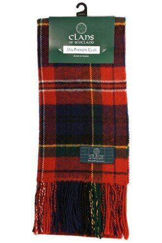 Tartan Republic Macpherson Clan Modern Tartan Scarf Scottish Wool Clan Scarves