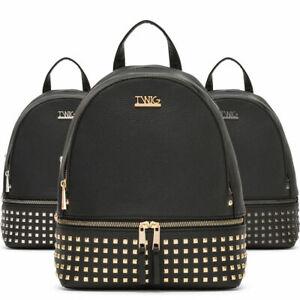 nuovo prodotto dc171 b70d9 Zaino donna TWIG OKIN con borchie zainetto similpelle nero | eBay