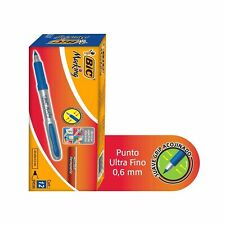 Bic Roller Ball Pen 07 Mm Fine Point Blue Ink 12 Pk Smooth Writing Soft Grip
