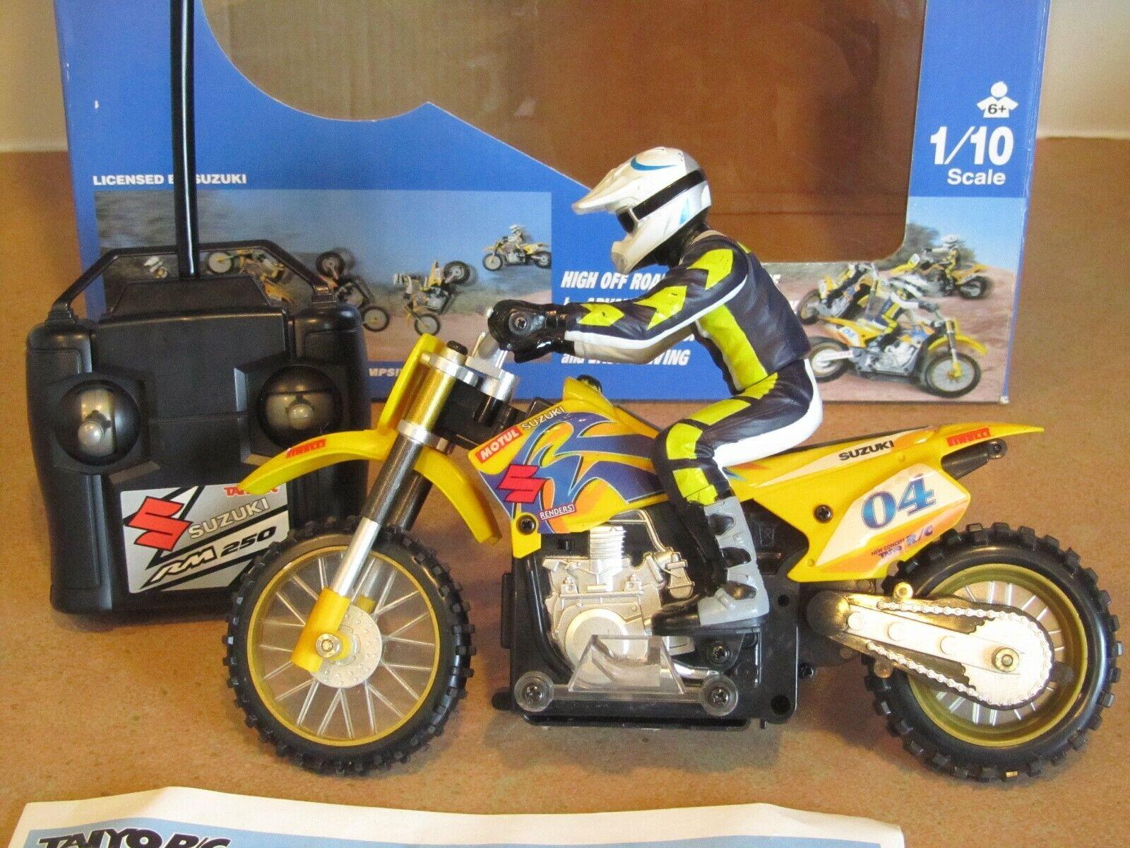 Taiyo R c Mini Suzuki RM250 Motocross Motocicleta Radio Control Gyro tecnología