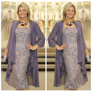 Image Is Loading Purple Mother Of The Bride Dress Tea Length
