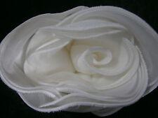 KLEINFELD WEDDING ROSE BIG FLOWER WHITE SATIN PIN DECORATION GOWN HAIR ACCESSORY