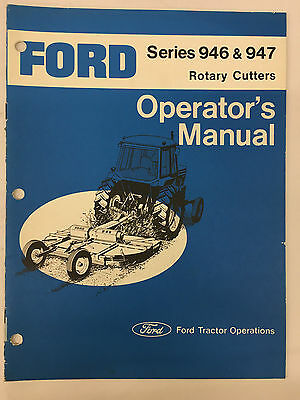 Ford Tractor Series 946 And 947 Rotary Cutters Operator S