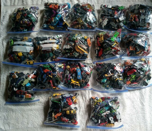 Lot of 50 Random Die Cast Cars Trucks Planes Matchtop Hot Wheels Grab Bag
