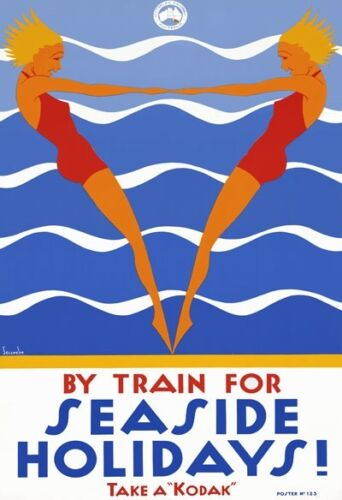T94 Vintage Australian Seaside Holidays Travel Poster Re-Print A1//A2//A3//A4