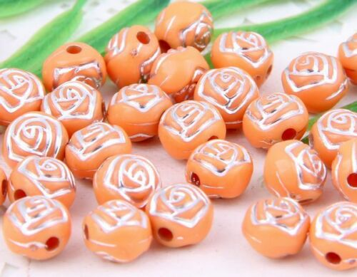 100Pcs 14Colors-1Or Mixed Acrylic Round Curly Round Ball Loose Spacer Beads 8mm