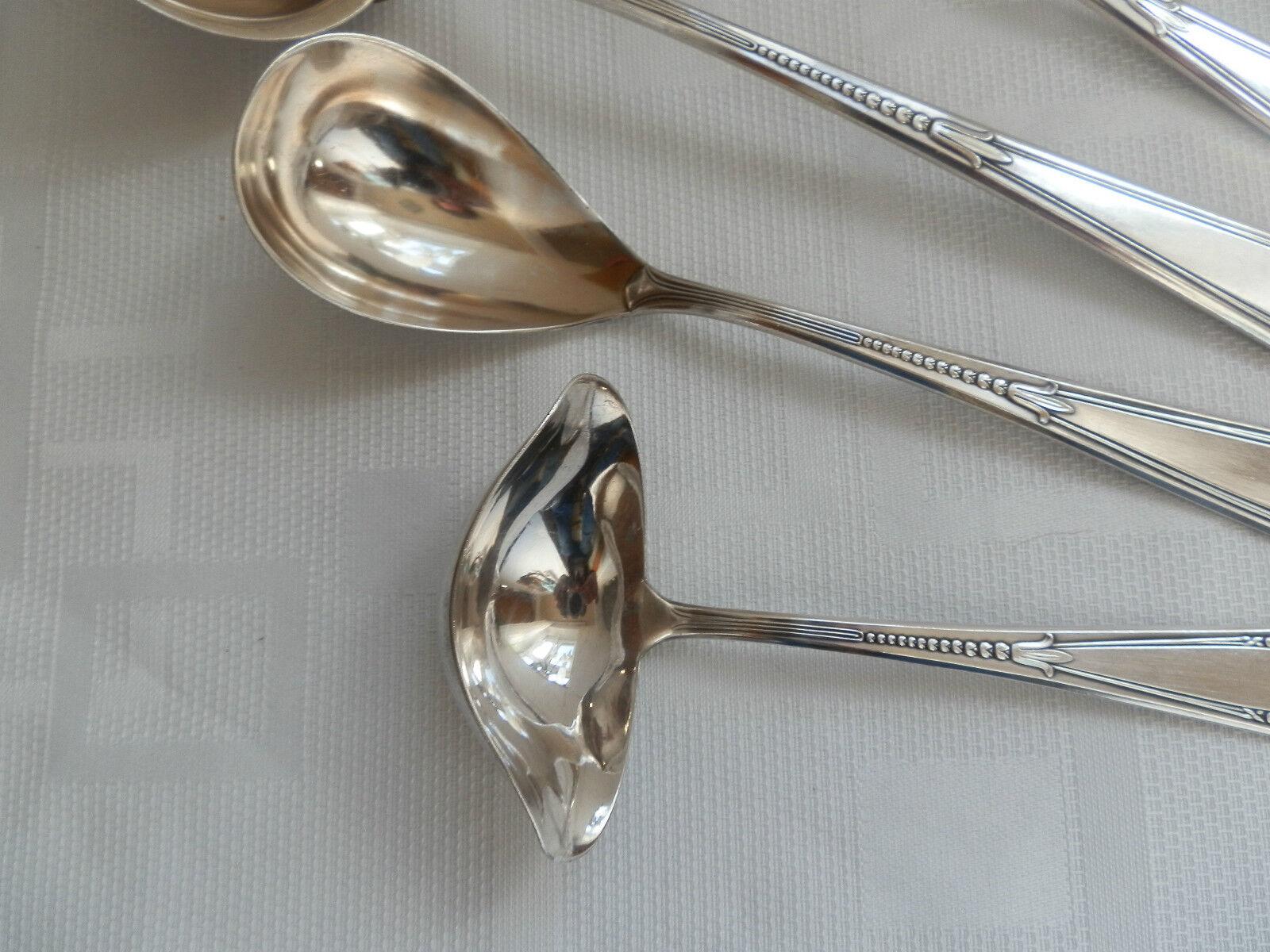 WMF 400 Röschenmuster Röschen Vorleger 10 10 10 Teile  90er Silber  I O Silber  TOP     | Stil  198444