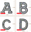 miniature 2 - Rhinestone Letter Patches Sew on Iron on Alphabet Patch Letters Embroidered A-Z