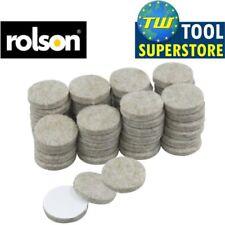 Rolson 48pc Self Adhesive 25mm Felt Pads Furniture Laminate Wood Floor Protector