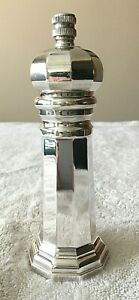 Vintage Sheffield Silver Plate Pepper Grinder Made in Italy