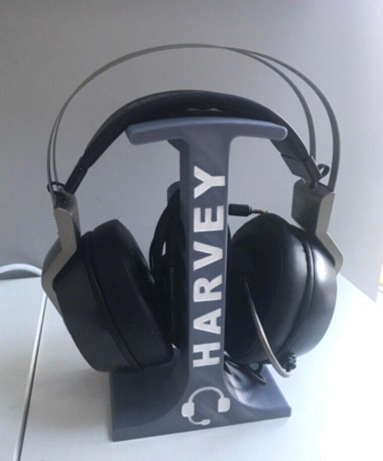 Personalised Headphone Stand Headset Holder Organiser - Any name - Gamer Gift