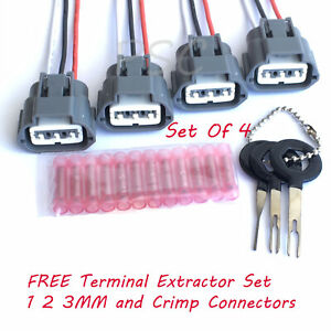 Details about Set of 4 Ignition Coil Wiring Harness Connector for Nissan on