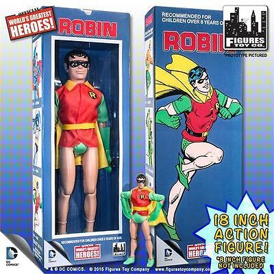 "ROBIN OFFICIAL WORLD/'S GREATEST HEROES 18/"" POSEABLE ACTION FIGURE DC COMICS NEW"