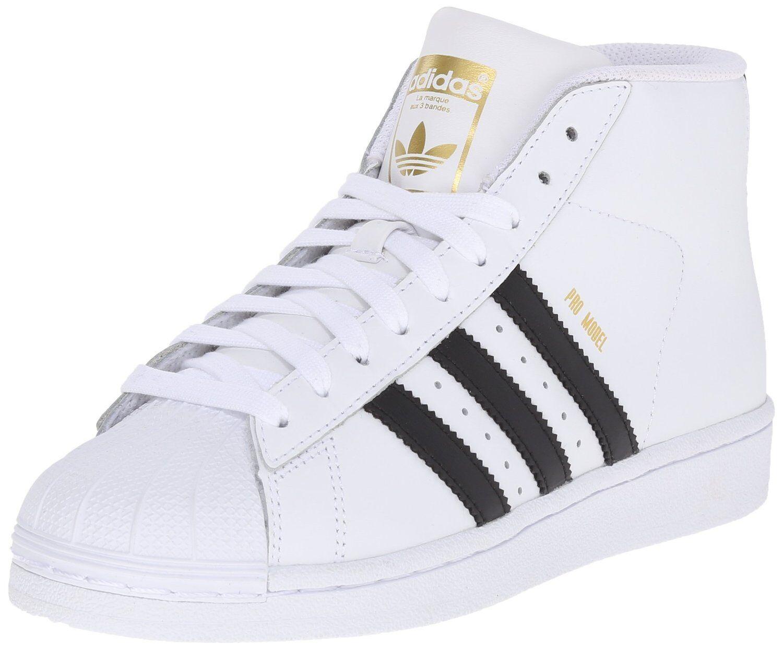 Adidas Pro Model J White/Nero/White (GS) (S85962)