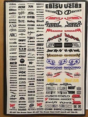 RC DRIFT CAR BLACK N20 + color Decal Sticker Yokomo MST Tamiya Overdose
