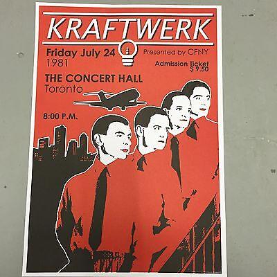 KRAFTWERK - CONCERT POSTER CONCERT HALL TORONTO FRIDAY 24th JULY 1981 (A3 SIZE)
