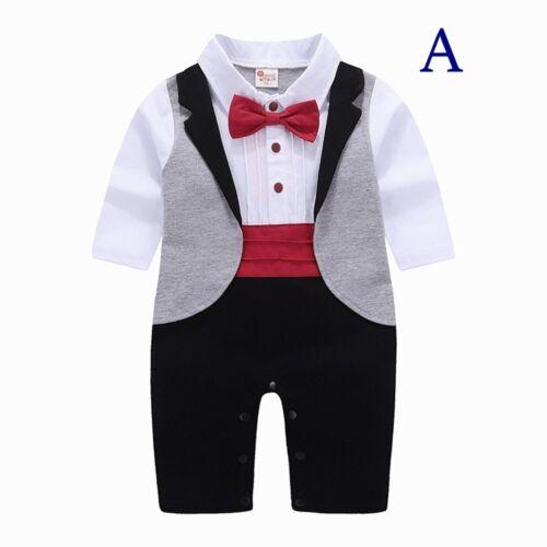 Baby Junge Clever Tuxedo Body-Outfit Taufe Hochzeit Geburtstag 6m 2yrs