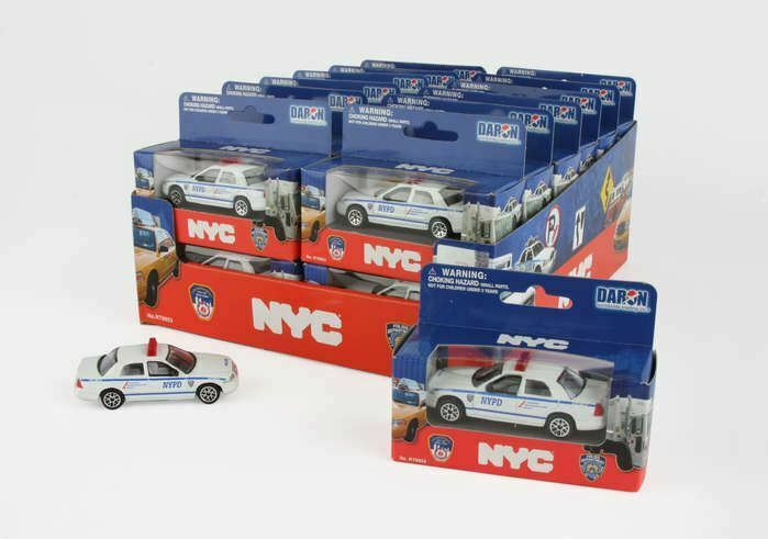 RT8953P NYPD Police Car 24 Piece Counter Display Toy Cars