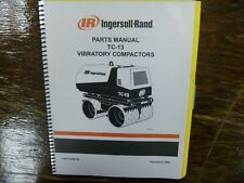 Ingersoll Rand Tc13 Trench Soil Compactor Roller Parts Catalog Manual