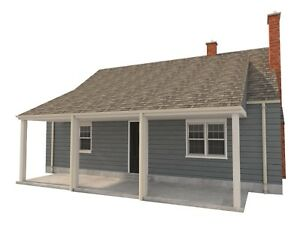 Details about 3 Bedroom House Plans DIY Two Story Home Building 832 sq/ft  Build Your Own