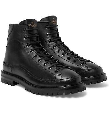 Valentino Garavani Mens Combat Leather