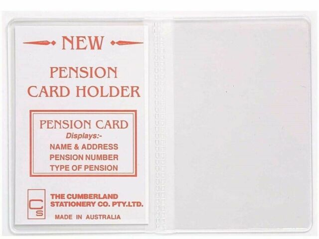 Pension Card Holder Clear PVC 100 x 70mm 2 Pockets Cumberland 723PCH