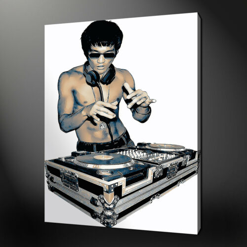 BRUCE LEE DJ MODERN CANVAS PRINT PICTURE WALL ART DESIGN VARIETY OF SIZES