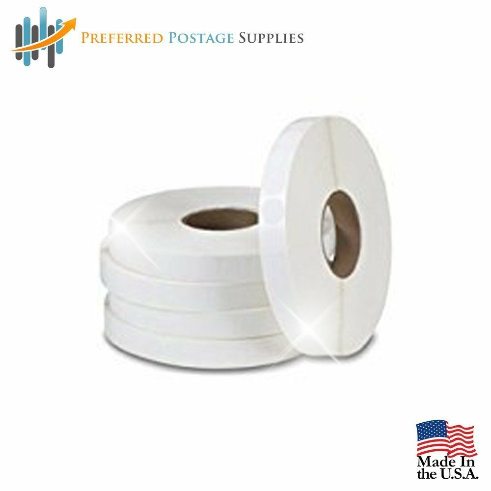 20,000 Tabs Per Roll White 1.5  Wafer Seals (No Perf) USPS Approved For Tabbing